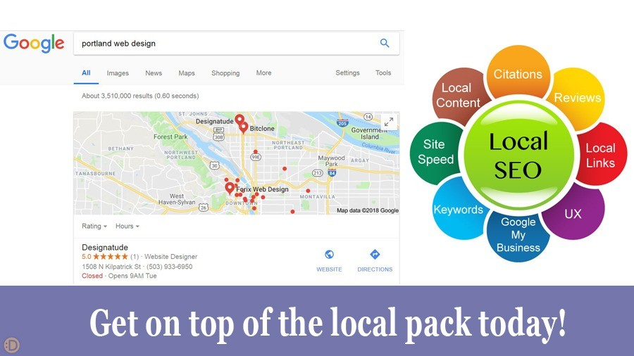 Portland Local SEO services from Designatude